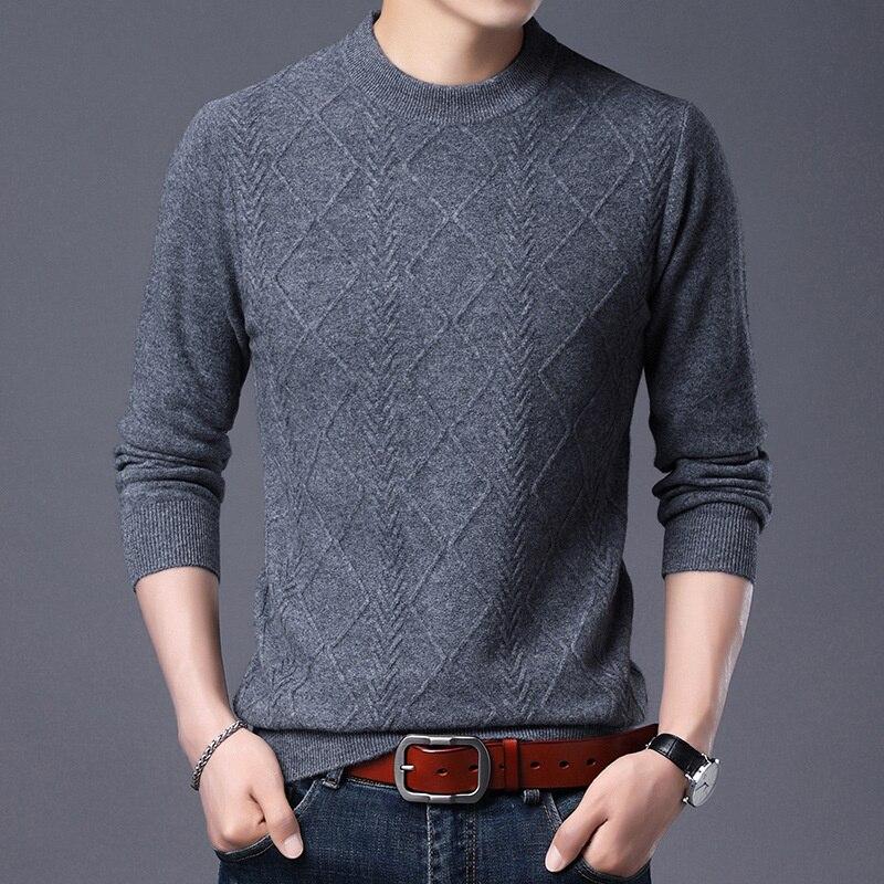 Осенне-зимняя оригинальная Мужская Утепленная рубашка с круглым вырезом и большим трикотажным дном, теплый топ