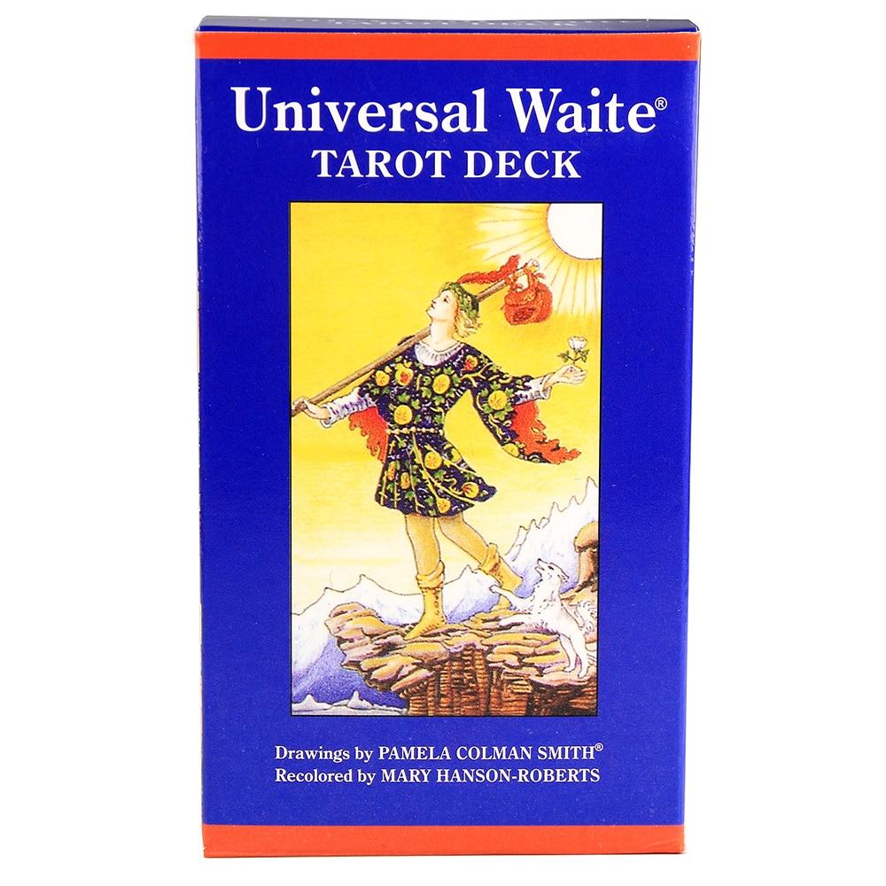Universal Waite Tarot Deck Cards Divination Fortune Telling Tarot Card Game dark wood tarot cards deck fortune telling divination card game