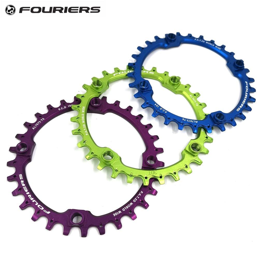 Fouriers цепное кольцо 104bcd горный велосипед цепное колесо AM FR DH алюминий 30T 32T 34T 38T 40TBike запчасти