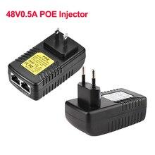 Échanger la sécurité 48V 0.5A 24W POE injecteur Ethernet adaptateur ue prise américaine pour la Surveillance de caméra IP