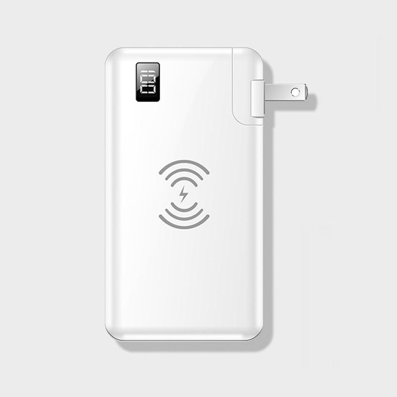 Batería 3 en 1 + cargador 10000mAh cargador rápido portátil inalámbrico para Samsung S9 iPhone 11 XR iPad Poverbank