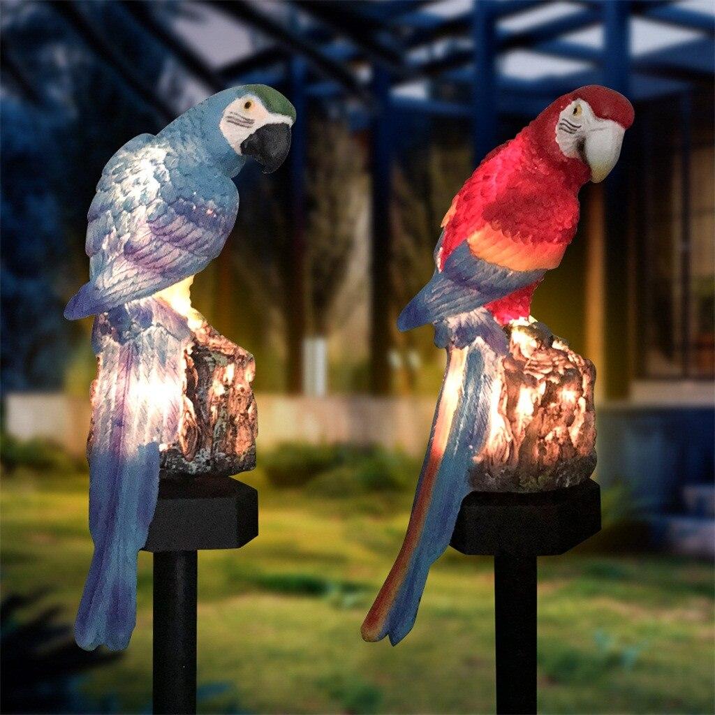 Solar Parrot Inserting Ground Landscape Light Resin Crafts Garden Light Home Garden Warm Light Solar Street Parrot Lamps