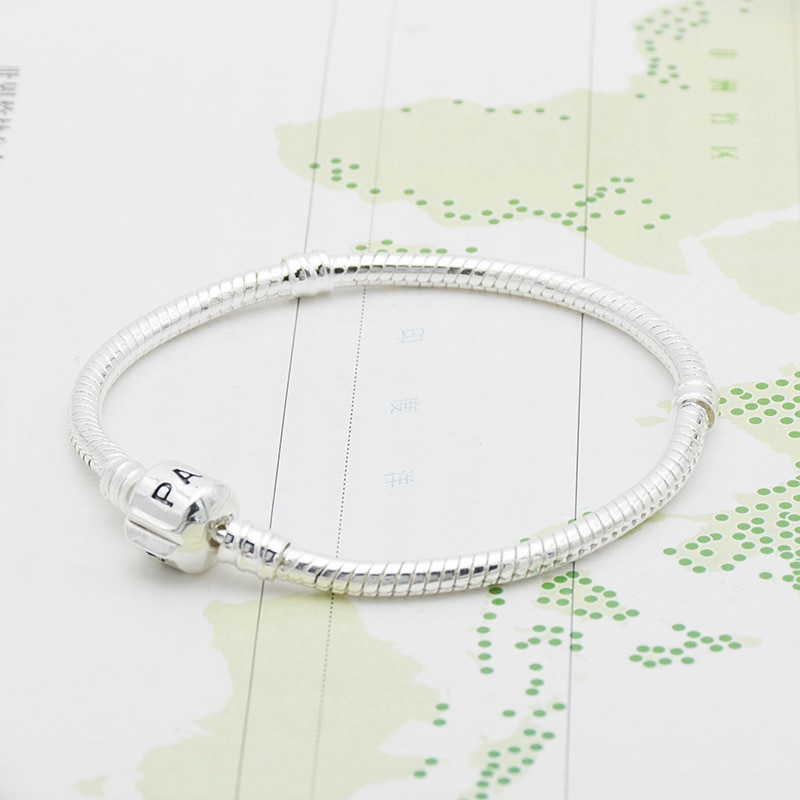 Cadena básica, brazalete DIY, cadena serpentina plateada, color plata, cadena de alta densidad Free shipping in France and Spain