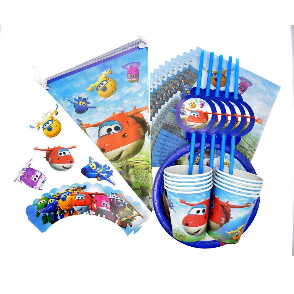 Super asas tema festa de aniversário do menino suprimentos descartáveis conjunto de utensílios de mesa copo placa de papel toalha chuveiro do bebê balões decorações