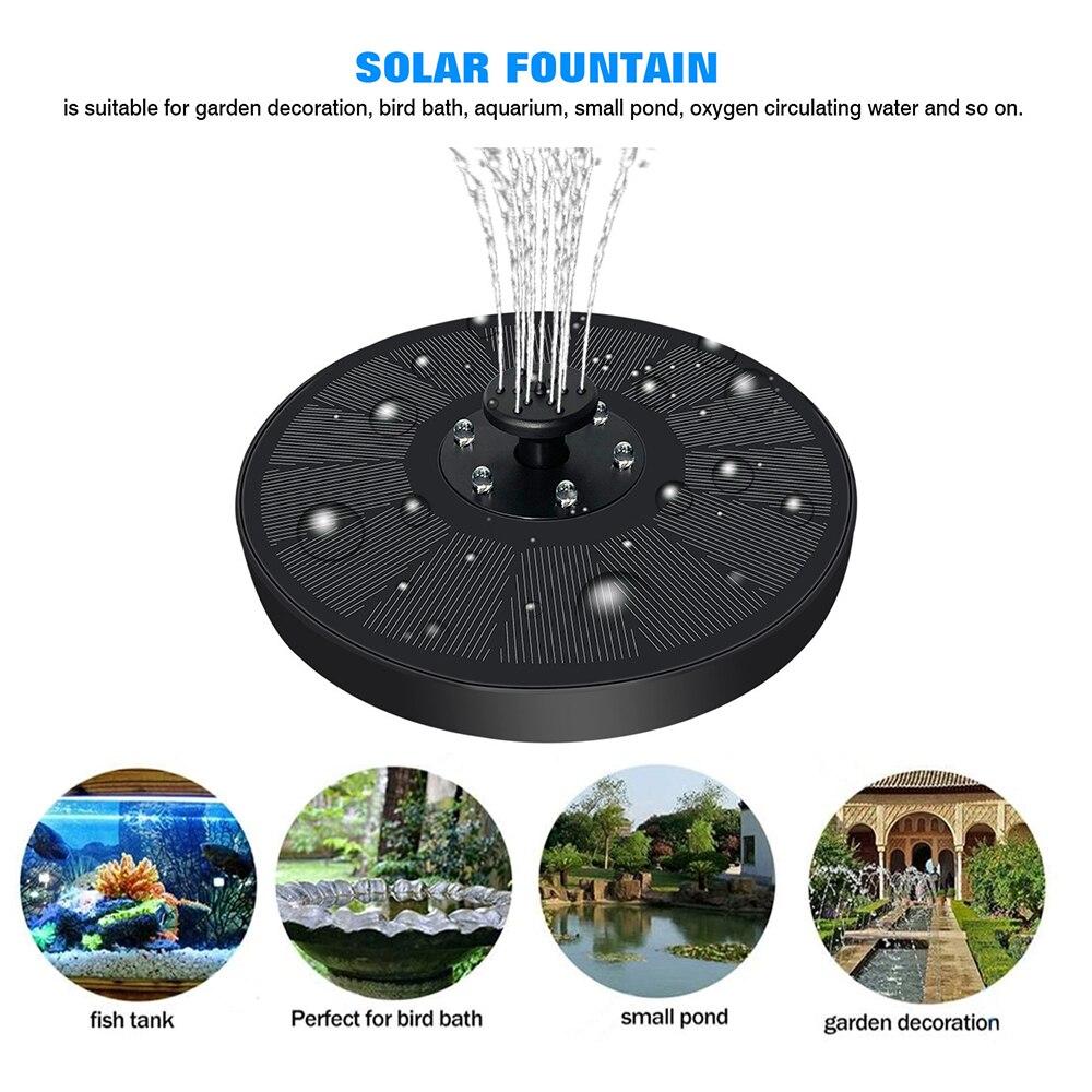 7V 3W солнечный фонтан IP68 Водонепроницаемый плавающий бассейны фонтаны Красочный Светодиодный фонарь на солнечных батареях насос для птиц д...