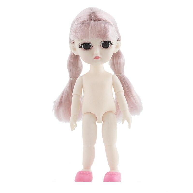 13 muñecas articuladas móviles juguetes 16cm ojos 3D Mini BJD OB bebé niña muñeca desnudo cuerpo moda muñecas juguete para niñas regalo
