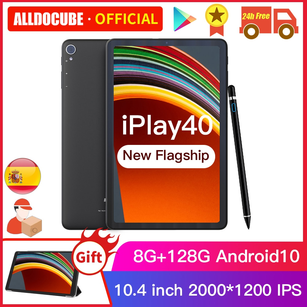 ALLDOCUBE iPlay40 شاشة 10.4 بوصة 2K FHD 2000*1200 8GB RAM 128GB ROM أندرويد 10 T618 CPU LTE phonecall 5G واي فاي iPlay 40