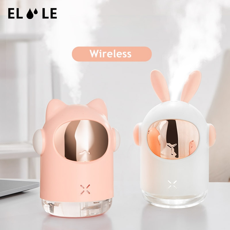 ELOOLE Rabbit Portable Wireless Air Humidifier USB Ultrasonic Aromatherapy Essential Oil Diffuser With Battery  For Home Car
