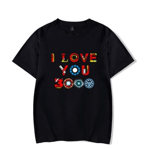 Fashion Tshirt DAD I LOVE YOU 3000 Times Summer Boy/Girl cotton Casual Wild T shirt Simple O neck Top Plus Size