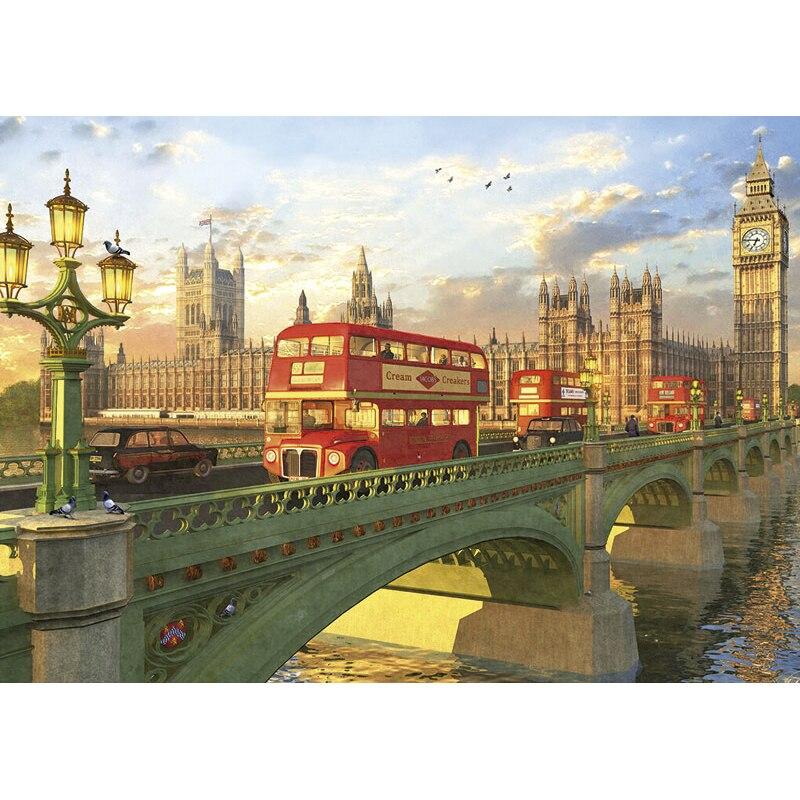 2000 частей головоломки Пазлы сборки изображение Лондона Тауэрский мост головоломки игрушки для взрослых и детей, игры развивающие игры, игр...