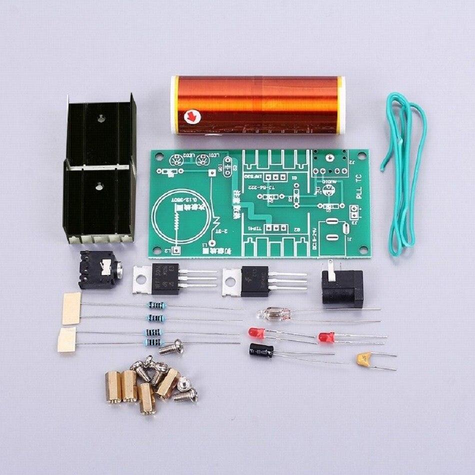 Kit de bobina electrónica DIY de 15V 15W para cantar música, altavoz de Plasma, generador de ignición de Zeusaphone, iluminación Musical de campo