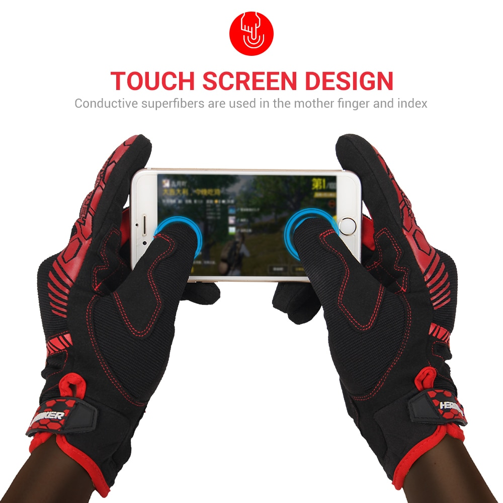 HEROBIKER Motorcycle Gloves Touch Screen Racing Riding Gloves Breathable Summer Men Motocross Gloves Full Finger Guantes Moto enlarge