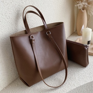 High Capacity PU Leather Tote Bags For Women 2021 Composite Bag Lady Travel Crossbody Shoulder Bags Female Simple Handbags