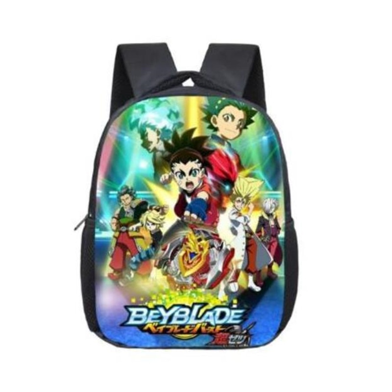 12 pulgadas Anime Beyblade mochilas para niños Mochila de libro de estudiante Mochila diaria dibujos animados Mochila escuela regalos