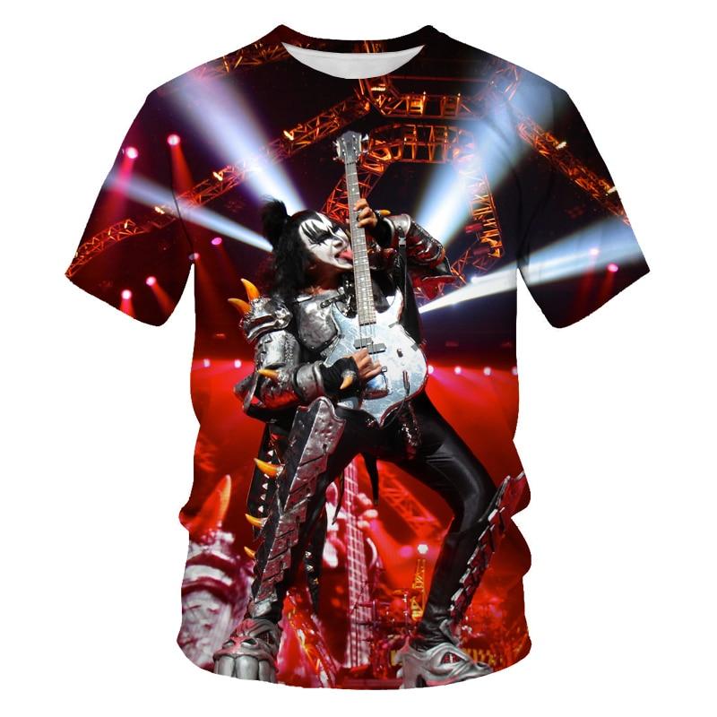 Rock Music Guitar 3D T Shirt Summer Men's/Women's Fashion T Shirt Casual T Shirt/Street Men's T Shirt