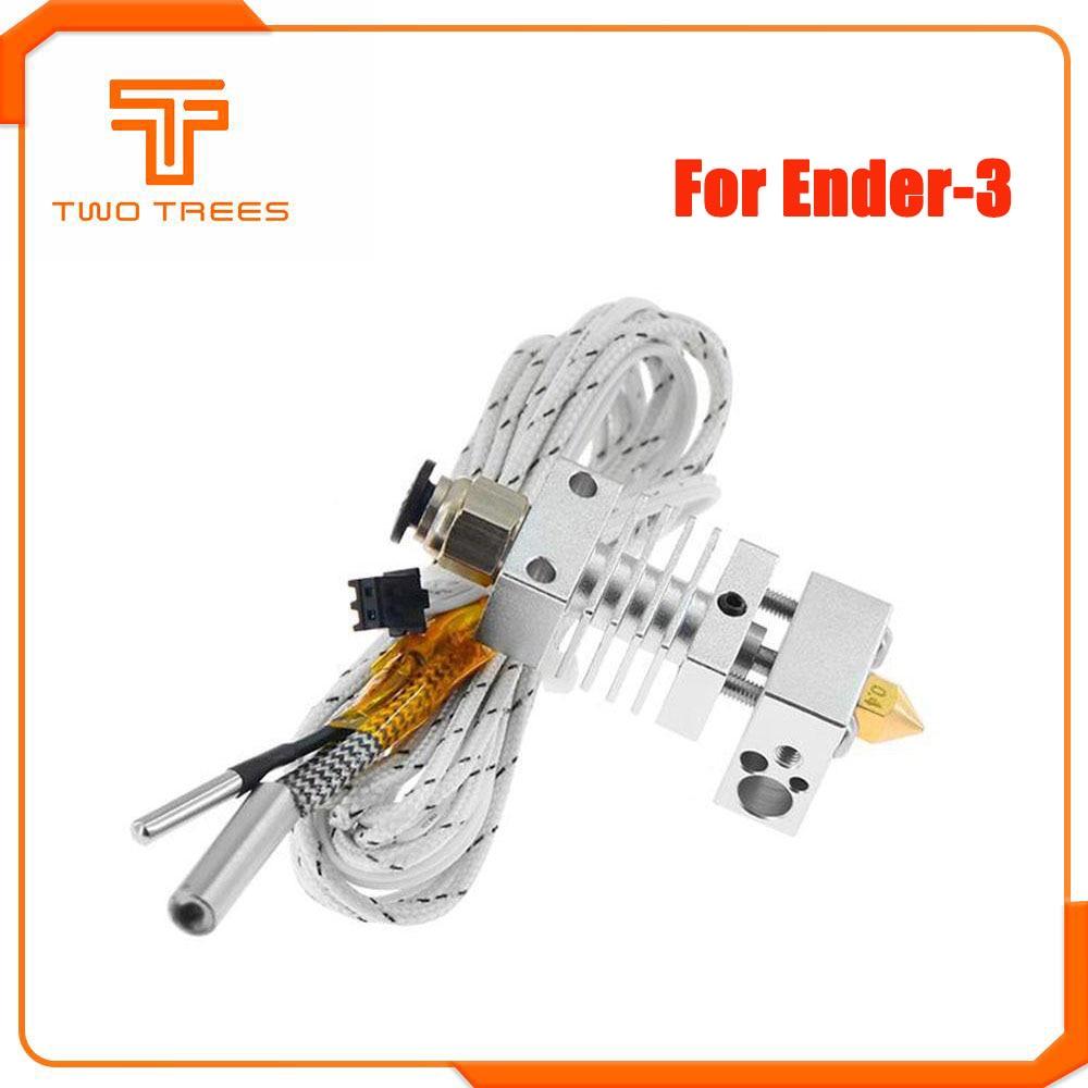 Hotend Extruder Kit Long Distance V6 Extrusion 12V/24V 50W J-head Heat Break Throat 1.75mm for Ender 3 CR10 CR-10S Printer