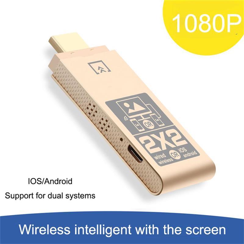 Wireless WiFi Display Dongle 2.4GHz Wireless HDMI-Compatible Display Receiver DLNA Airplay for iOS A