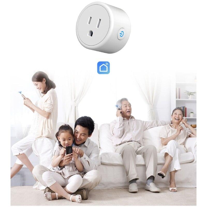 10A Tuya مقبس ذكي الولايات المتحدة واي فاي المكونات الذكية مع التحكم الصوتي والتطبيق برمجة السلطة الموقت لجوجل المنزل صدى