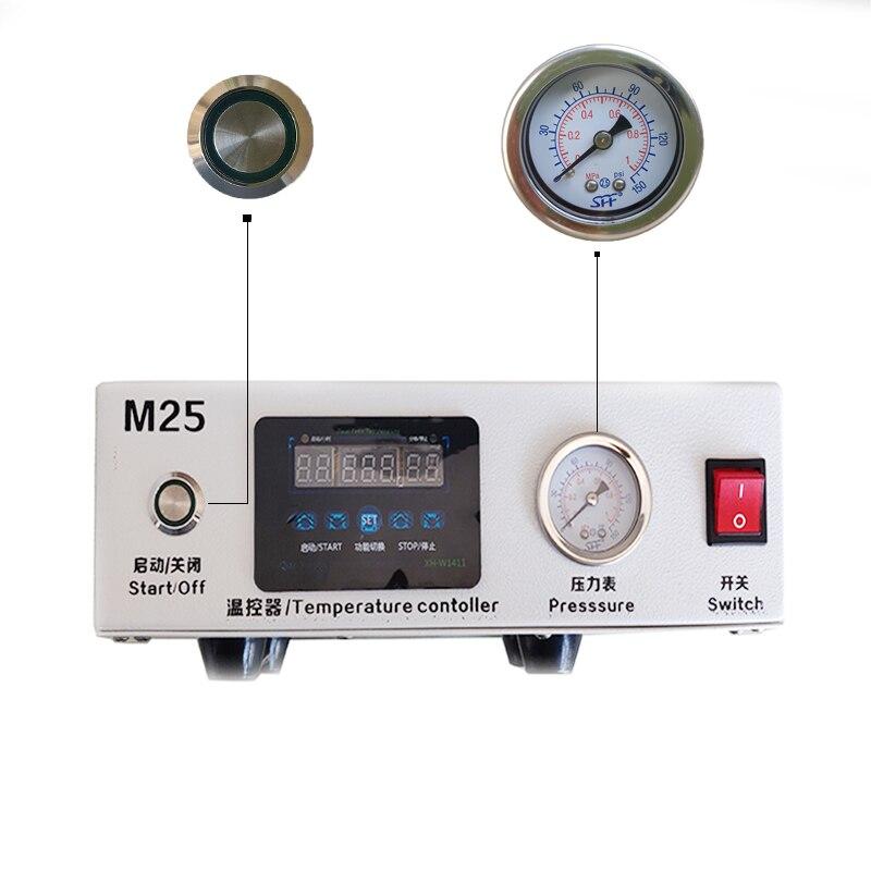 M25 LCD pantalla táctil removedor de burbujas de aire de alta presión LCD máquina de renovación necesita bomba externa para iPhone Samsung