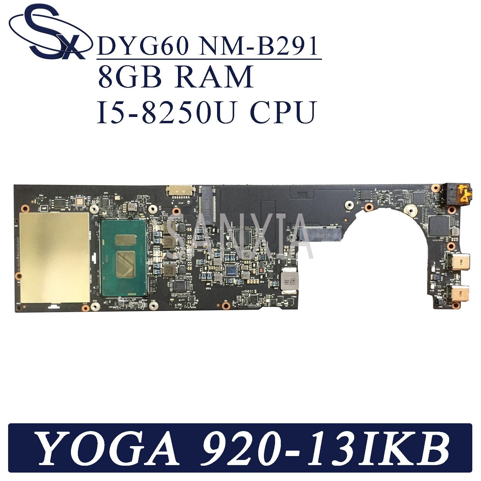 KEFU NM-B291 płyta główna laptopa dla Lenovo YOGA 920-13IKB oryginalna płyta główna 8GB-RAM I5-8250U