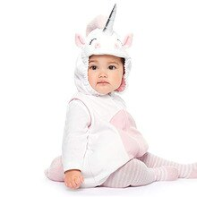 0-3Years Baby Cartoon White Unicorn Rompers Kids Birthday Anniversary Party Role Play Dress Up Outfi