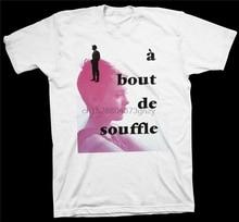A Bout De Souffle T-Shirt Jean-Luc Godard Fran&ccedilois Truffaut Jean-Paul Belmondo Popular Tagless Tee Shirt