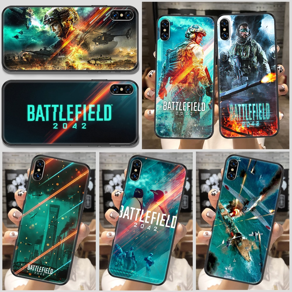 Battlefield 2042 Game Phone Case For iphone SE 2020 6 6S 7 8 11 12 13 Mini Plus X XS XR Pro Max black tpu cell cover soft shell