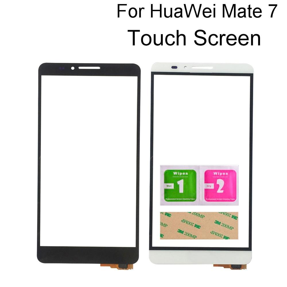 """Pantalla táctil móvil para Huawei Ascend Mate 7 MT7-AL00 TL10 6,0 """"herramientas de Sensor de Panel de Digitalizador de pantalla táctil de cristal exterior frontal"""