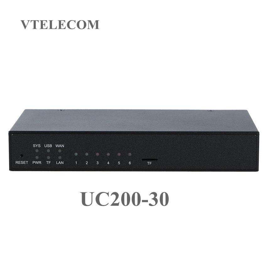 Asterisk mini IP PBX UC200-30 with 120 users VOIP pbx system