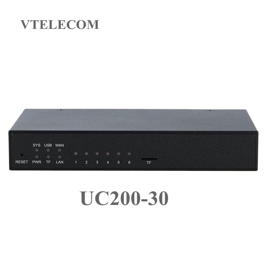 النجمة IP PBX البسيطة UC200-30 مع 120 المستخدمين VOIP pbx نظام