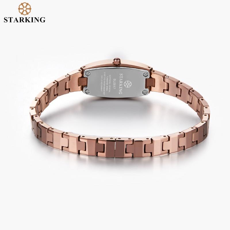 STARKING Jewelry Watch Woman Quartz Sapphire Crystal Watch Tungsten Steel Wristband Small Dial Ladies Clock montre femme 2019 enlarge