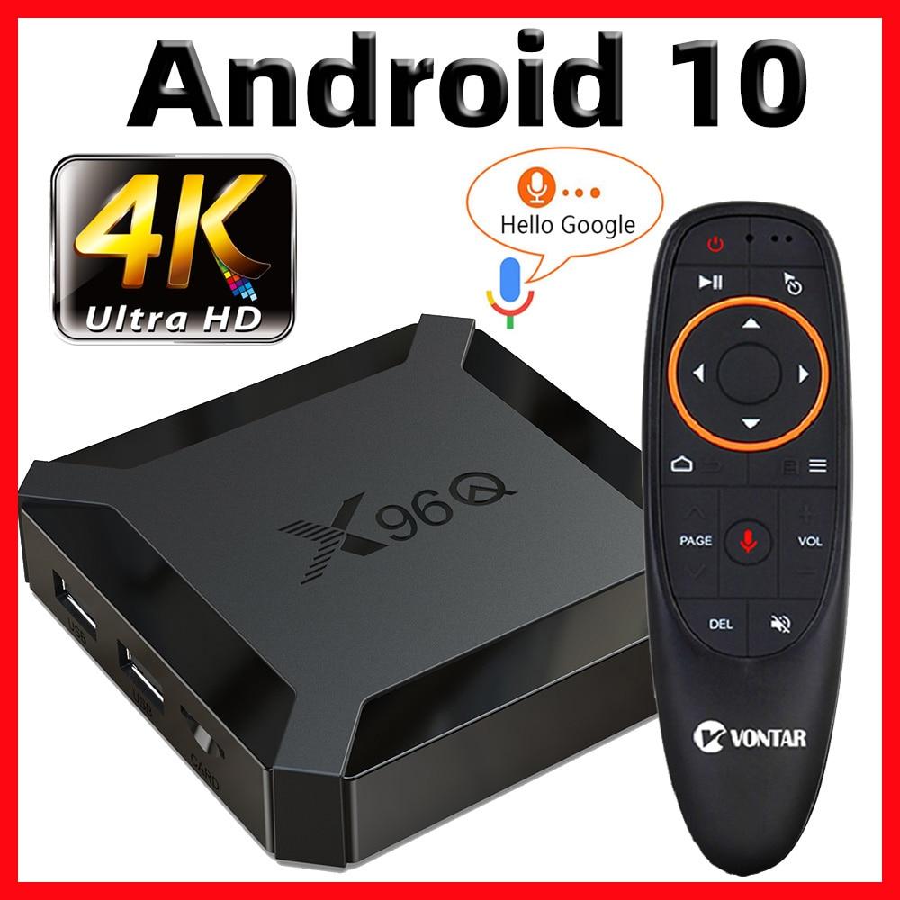 X96Q صندوق التلفزيون أندرويد 10 الذكية صندوق التلفزيون X96 Q TVBox Allwinner H313 رباعية النواة 4K 60fps 2.4G واي فاي جوجل بلاي ستور يوتيوب vs X96 mini