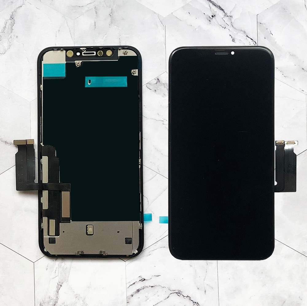 Factory Wholesale OEM New Lcd for iPhone XR Display Screen Touch With Metal Factory Display For iPhone XR Lcd OEM touch Screen enlarge