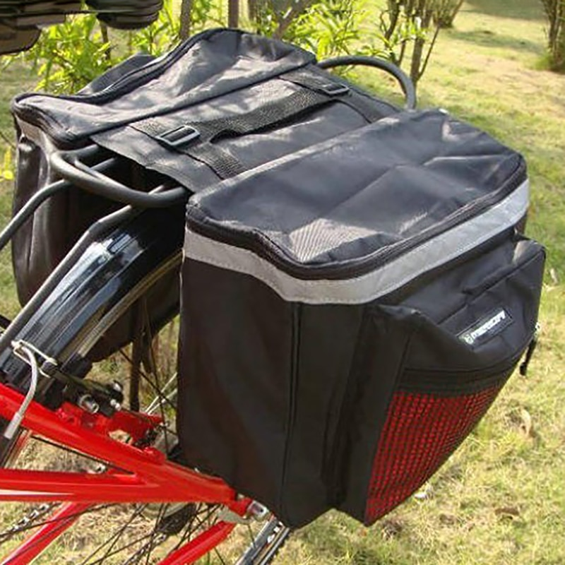 Nuevo bolso de equipaje de bicicleta a prueba de agua, asiento trasero, bolsa de almacenamiento doble, estante para bicicleta de montaña, Paquete, equipo de soporte para bicicleta