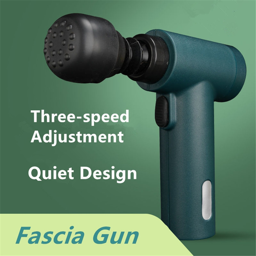 Пистолет Fascia, массажер для мышц, пистолет для массажа тела, вибратор, пистолет для массажа спины, массажер для спины, Электрический массажер ...