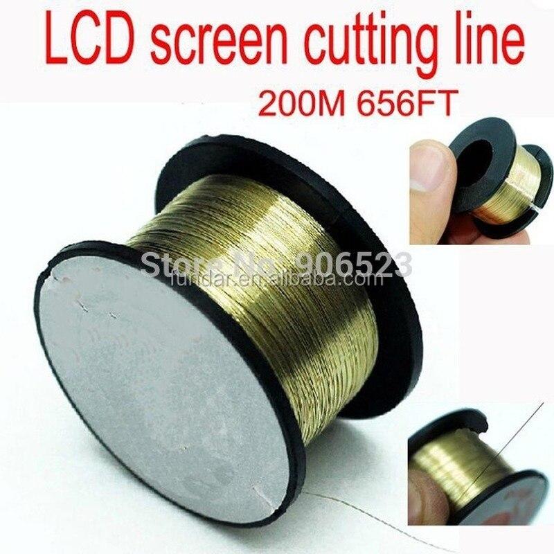 جديد 200 متر خطوط قطع سلك الموليبدنوم الذهبي/خط تجديد فاصل LCD لايفون 4 4s 5 لإصلاح زجاج سامسونج