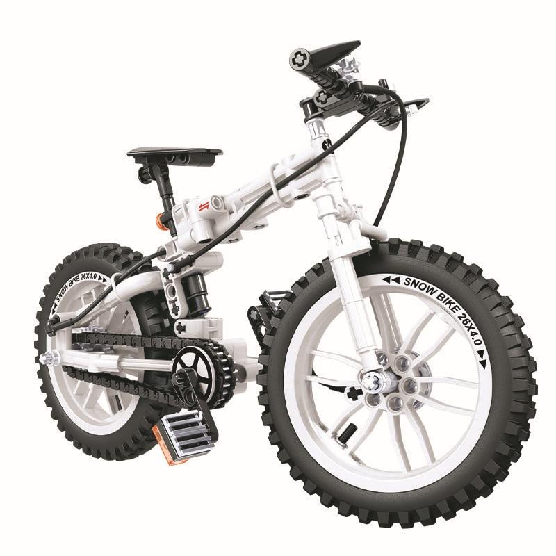 7072 7064, bicicleta plegable técnica Winner, bloques de construcción, juguetes de regalo para niños