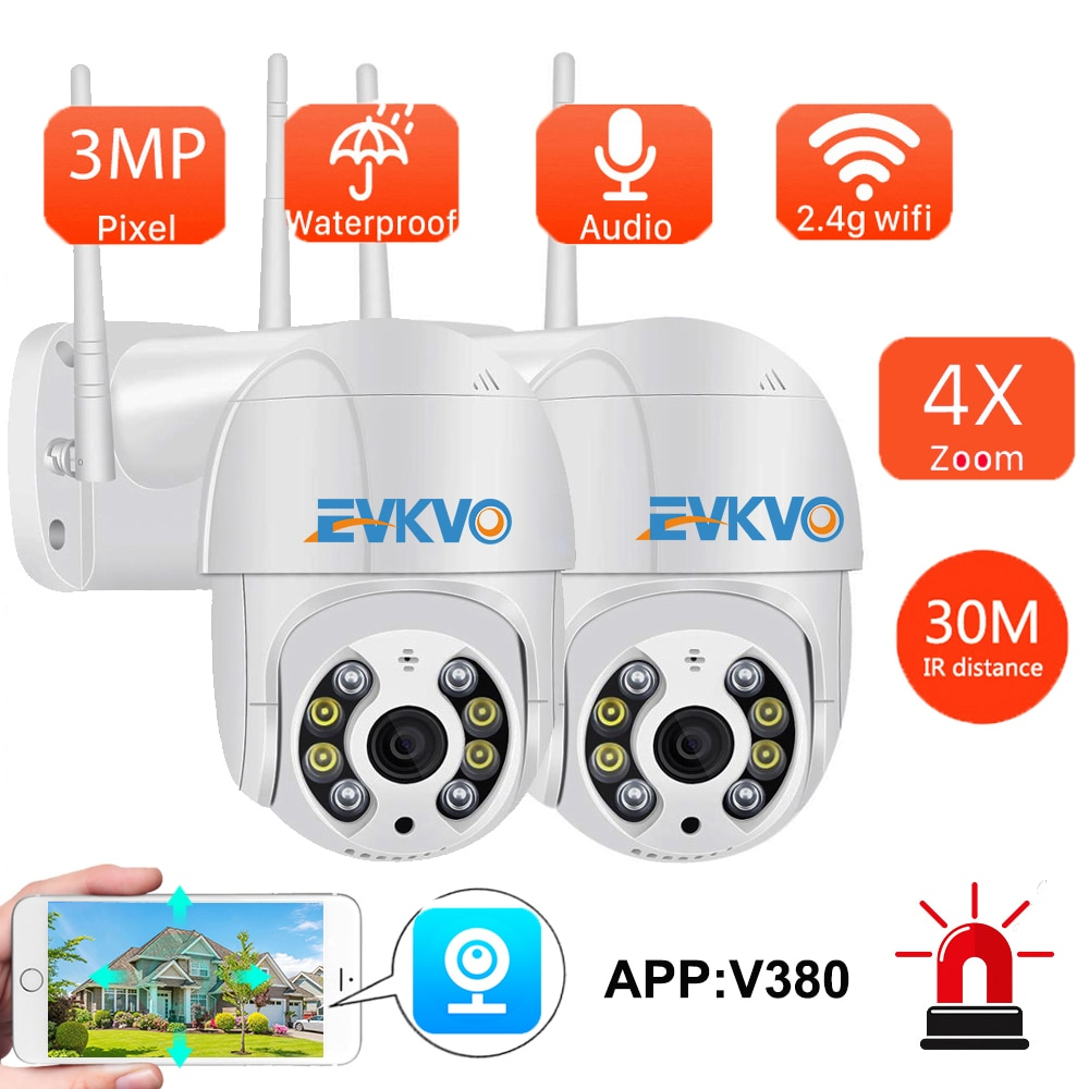 3MP Mini WiFi كاميرا متحركة IP في الهواء الطلق الصوت سحابة Onvif AI الإنسان كشف السيارات تتبع سرعة لاسلكية كاميرا بشكل قبة CCTV V380