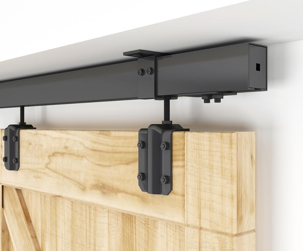 صندوق أسود مثبت للسقف DIYHD 5FT-8FT جهاز لانزلاق باب الحظيرة للباب الخارجي