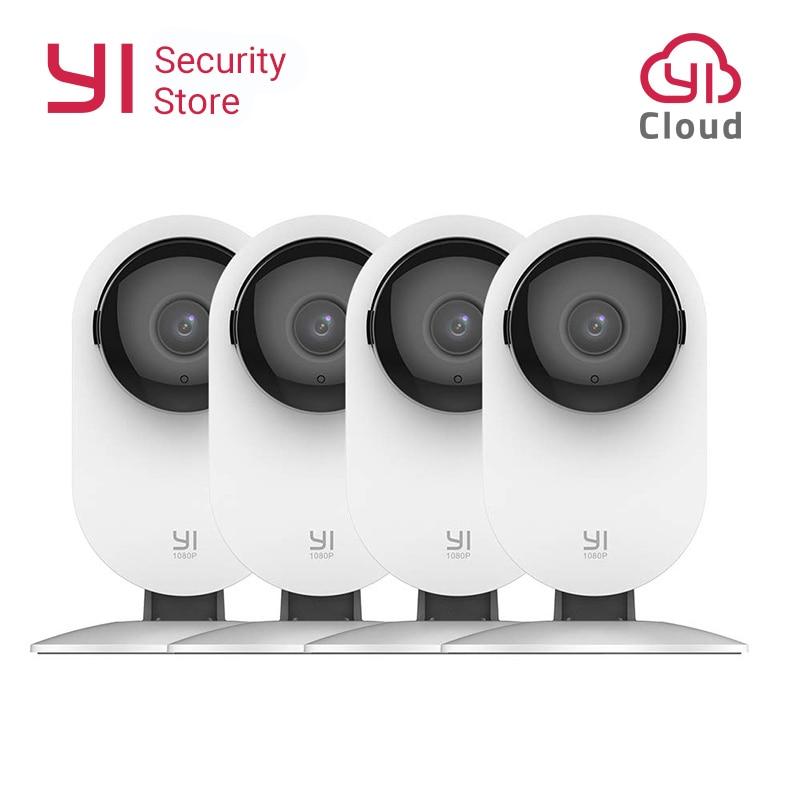 YI домашняя камера 1080P 4 шт. система видеонаблюдения ночного видения беспроводная IP Bayby монитор WIFI камера CCTV YI облачная камера сова