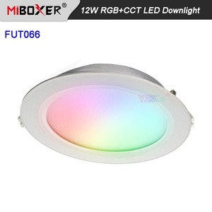 Miboxer 12W RGB+CCT LED Downlight FUT066 AC100~240V Round LED Ceiling 24G WiFi Spotlight 16 million colors