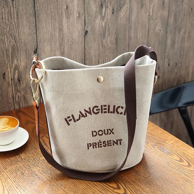 Женская холщовая сумка-мессенджер