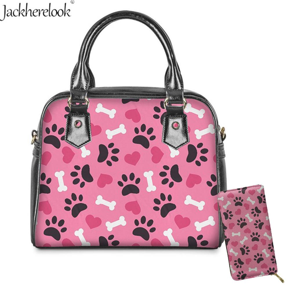 2 uds. Gato/pata de perro bolsa de hombro/mensajero/bandolera Linda caricatura amor hueso monedero moneda bolsa Casual bolso bolsas