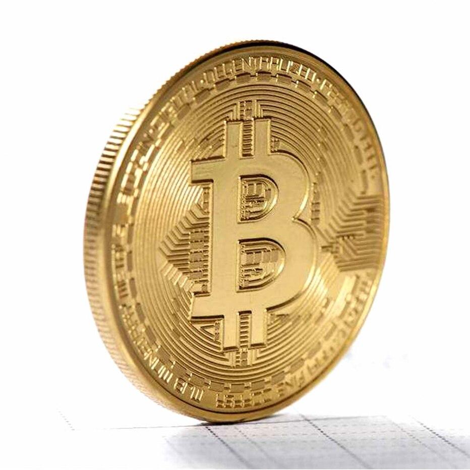 2 шт. позолоченные монеты Биткоин, коллекционная большая подарочная монета, коллекция искусства, физическая Золотая памятная монета, креати...