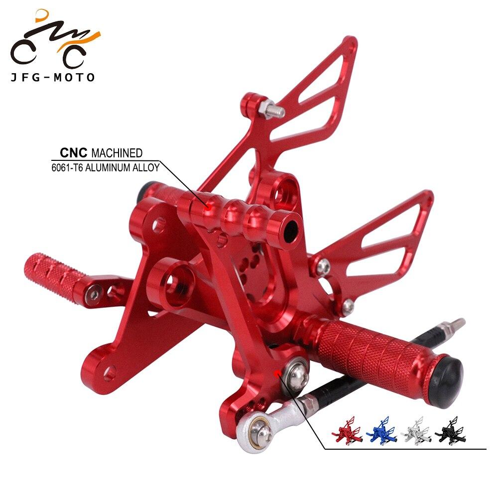 Estribos de pie ajustables CNC para motocicleta, reposapiés para HONDA CBR250R CBR300R CB300F 2011-2017 NSR50 NSF100