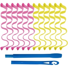 30CM Magic Hair Curlers Rollers Sticks No Heat 12PCS Durable Nylon DIY Hair Styling Tools Wave Form