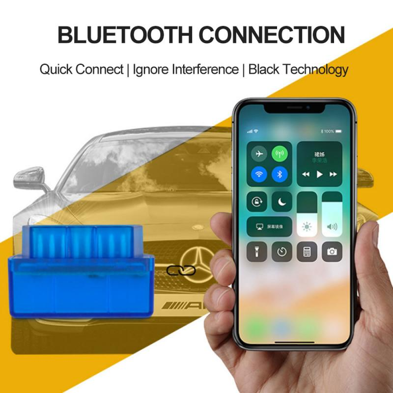 Nuevo OBD V2.1 Mini ELM327 OBD2 Bluetooth 4,0 Auto escáner OBDII 2 ELM 327 probador herramienta de diagnóstico para Android Windows IOS