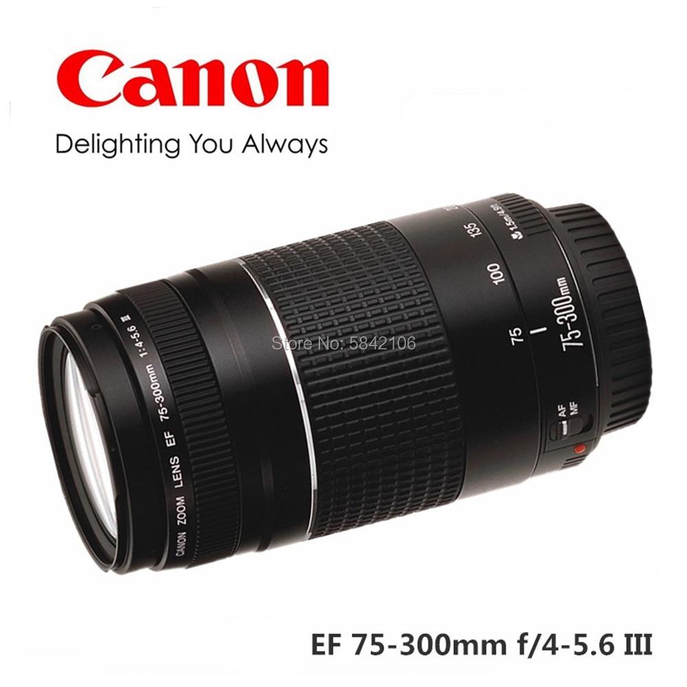 كاميرا كانون عدسة EF 75-300 مللي متر F/4-5.6 III تليفوتوغرافي العدسات ل 1300D 650D 600D 700D 77D 800D 60D 70D 80D 200D 7D T6 T3i T5i