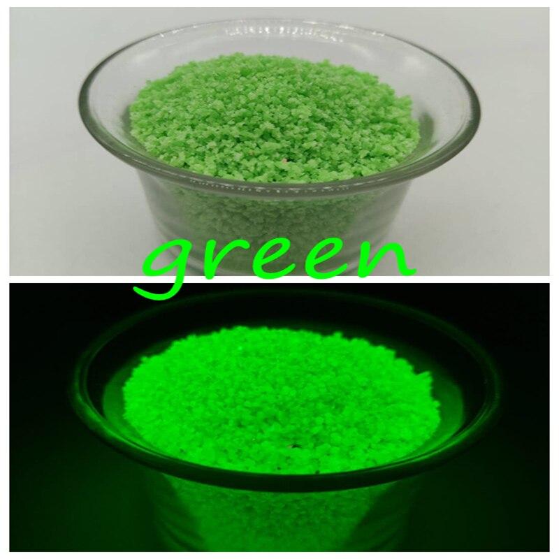 10g polvo luminoso de color verde que brilla en la oscuridad polvo de uñas arena neón luminoso pigmento polvo arte uñas decoraciones brillo
