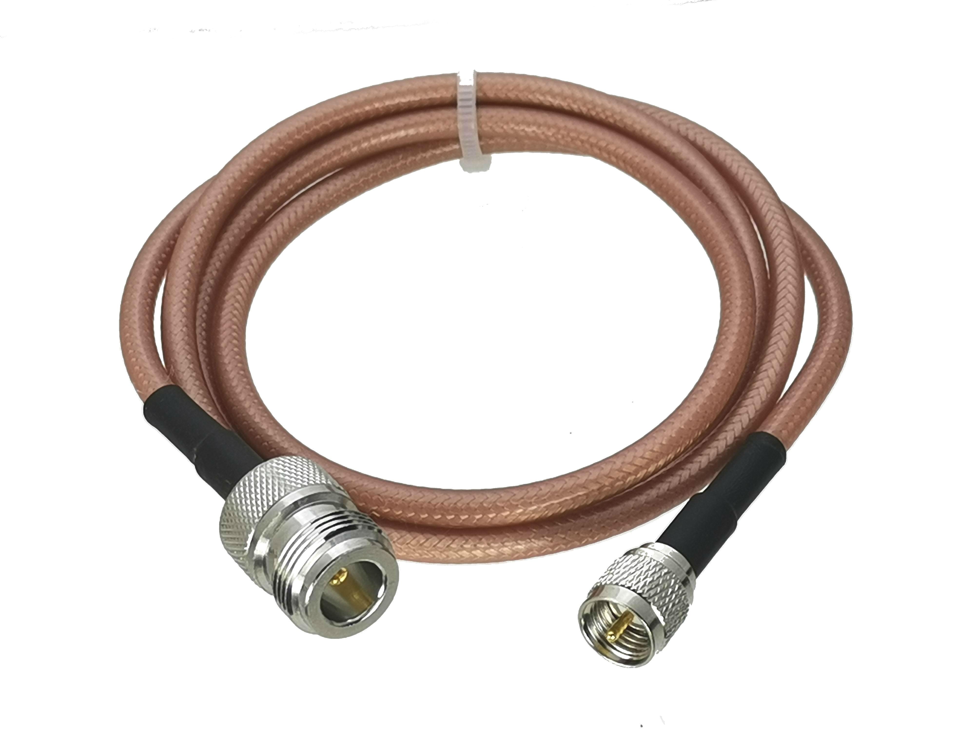 1 pces rg142 mini uhf miniuhf macho plug para n fêmea jack conector em linha reta rf jumper trança cabo 6 polegada ~ 10 m